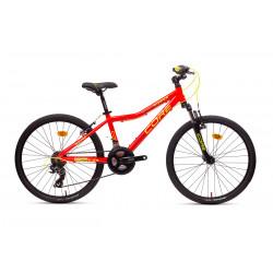 """Core 24"""" vidlice M-3020, 3x6 Revo, reflexní červená se žlutou 11,6kg."""