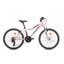 """Core 24"""" vidlice M-3020, 3x6 Revo, bílá s červenou linkou 11,6kg."""